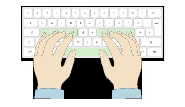 10 finger tippsystem